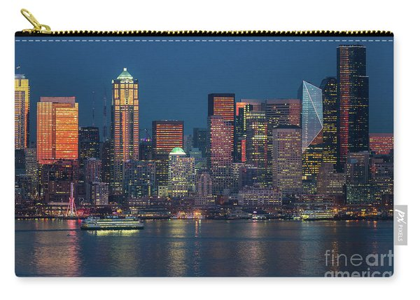 Ferry Crossing Elliott Bay At Sunset Carry-all Pouch