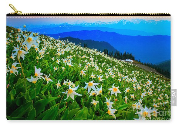 Field Of Avalanche Lilies Carry-all Pouch