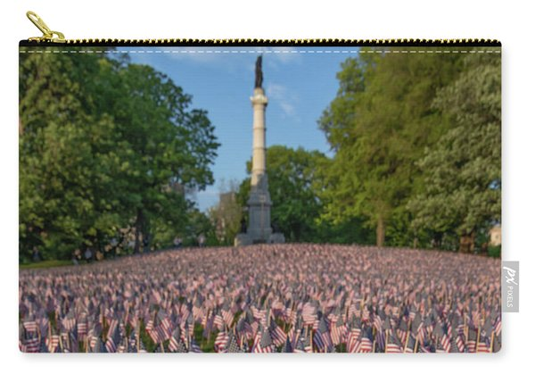 Field Of Flags At Boston's Soldiers And Sailors Monument Carry-all Pouch