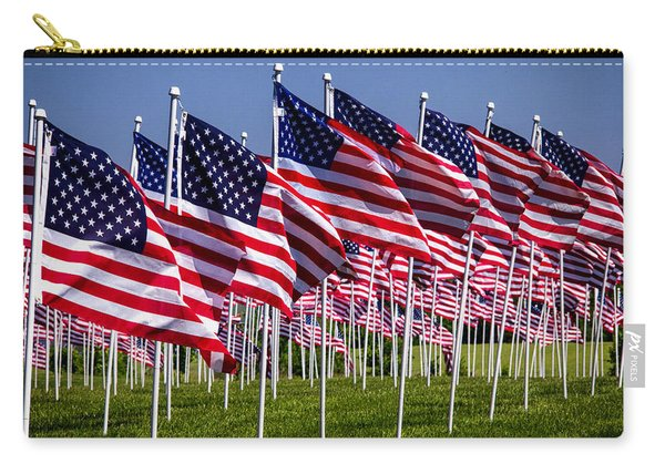Field Of Flags For Heroes Carry-all Pouch