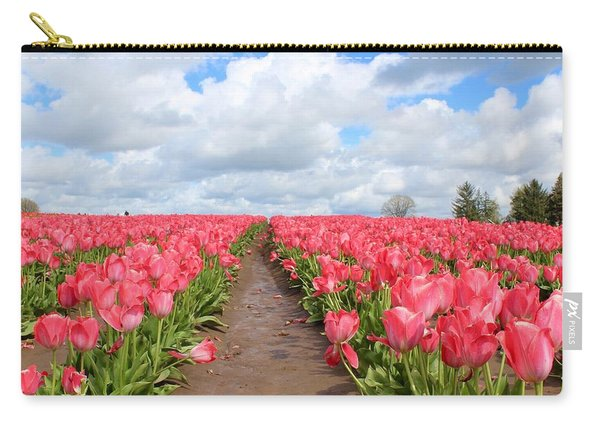Field Of Pink Carry-all Pouch
