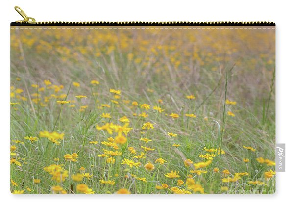 Field Of Yellow Flowers In A Sunny Spring Day Carry-all Pouch