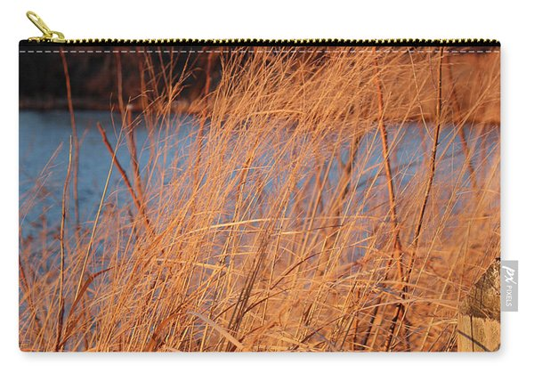 Amber Brush On The River Carry-all Pouch