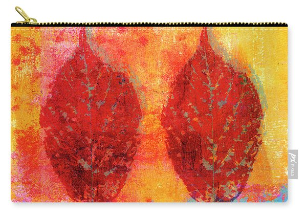 Fiery Fall Color Cherry Leaves Carry-all Pouch