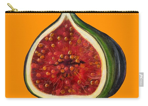 Fig On Orange Carry-all Pouch