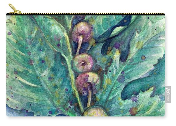 Carry-all Pouch featuring the painting Figful Tree by Ashley Kujan
