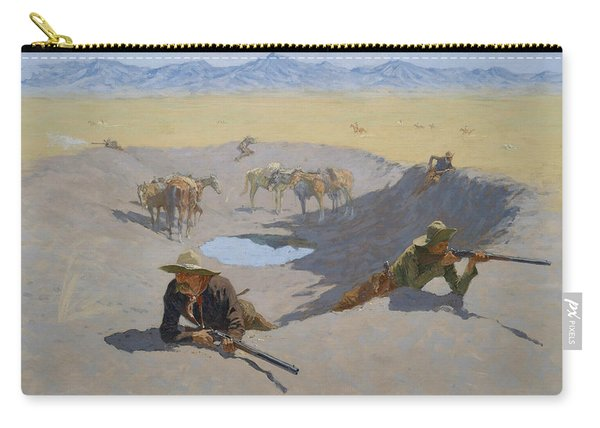 Fight For The Waterhole Carry-all Pouch