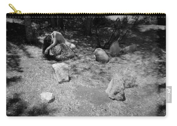 Carry-all Pouch featuring the photograph Figurative Holga Tryptich 4 by Catherine Sobredo