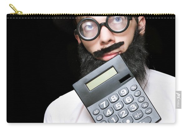 Financial And Accounting Genius With Calculator Carry-all Pouch