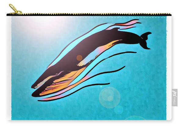 Finback Diving Through Krill Carry-all Pouch