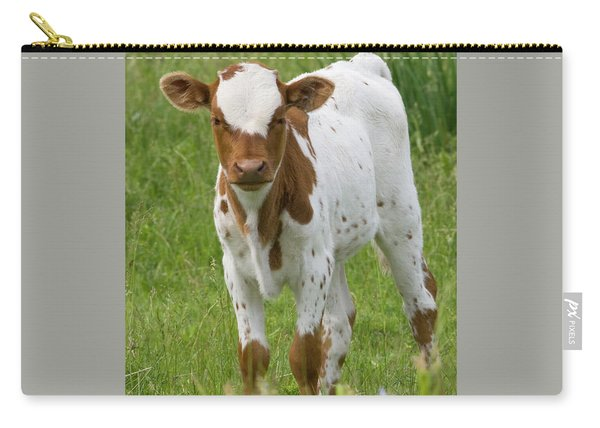 Fine Looking Longhorn Calf Carry-all Pouch