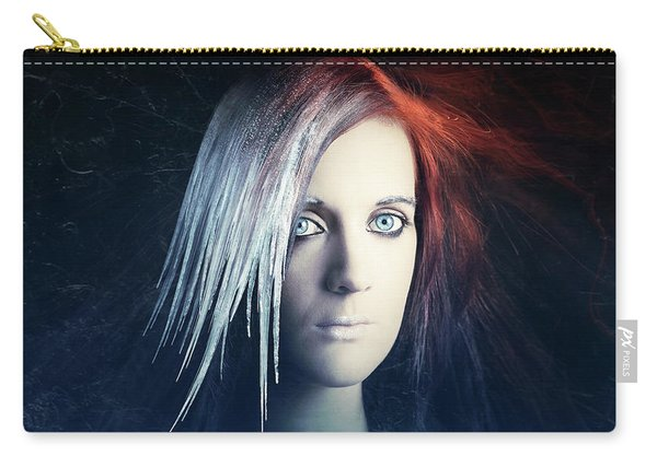Fire And Ice Portrait Carry-all Pouch