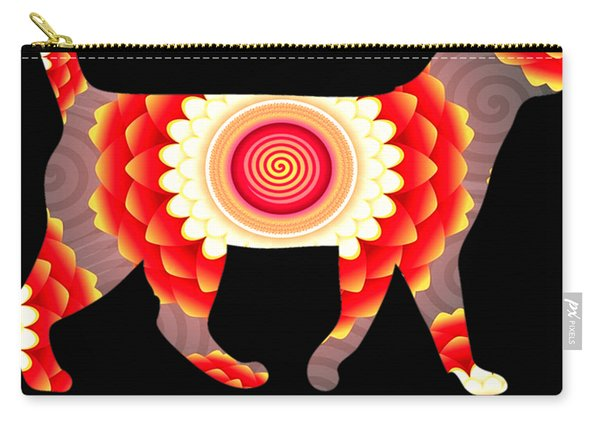 Fire Flower Cats Carry-all Pouch