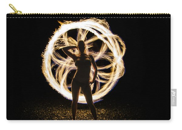 Fire Flower Silhouette Carry-all Pouch