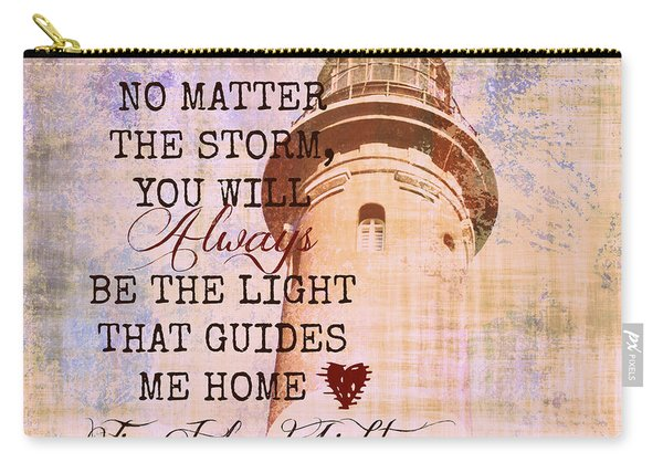 Fire Island Light House Poem 3 Carry-all Pouch