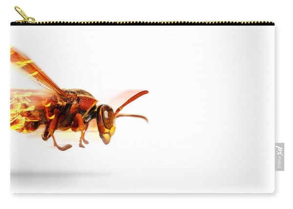 Fire Wasp Racing At Scorching Speed Carry-all Pouch