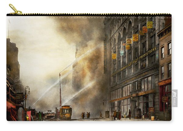 Fireman - Brooklyn Ny - Surprise 1909 Carry-all Pouch