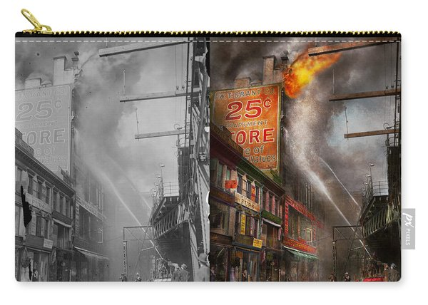 Fireman - New York Ny - Show Me A Sign 1916 - Side By Side Carry-all Pouch