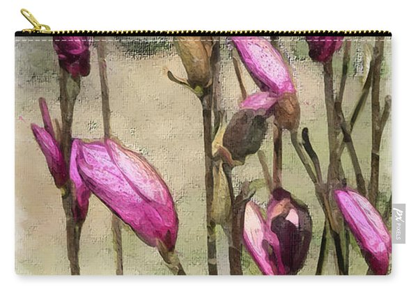 Carry-all Pouch featuring the digital art First Blush by Gina Harrison