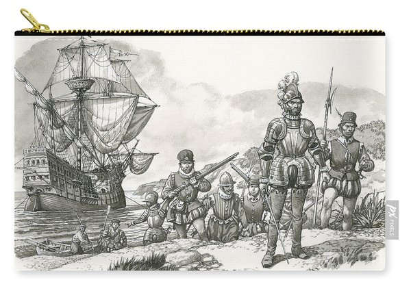 First Europeans Arriving In California  Carry-all Pouch