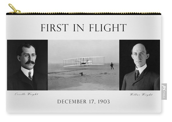 First In Flight - The Wright Brothers Carry-all Pouch