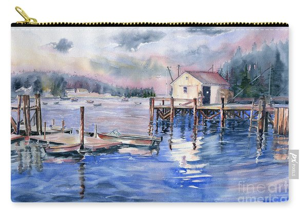 The First Light Of Dawn At Port Clyde Maine Carry-all Pouch