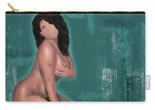 Carry-all Pouch featuring the digital art First Love Yourself by Bria Elyce