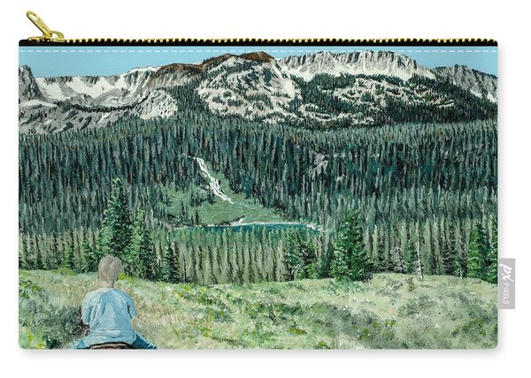 Carry-all Pouch featuring the painting First Ride by Kevin Daly