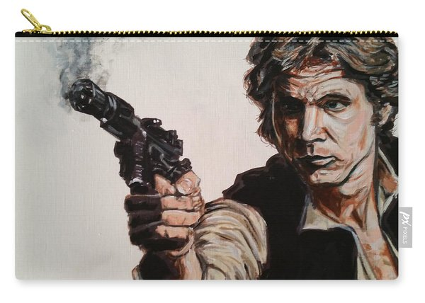 Carry-all Pouch featuring the painting First Shot - Han Solo by Joel Tesch