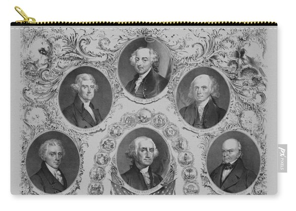 First Six U.s. Presidents Carry-all Pouch