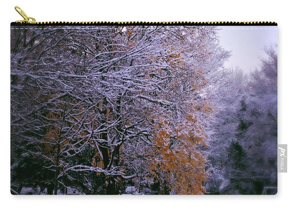 First Snow After Autumn Carry-all Pouch