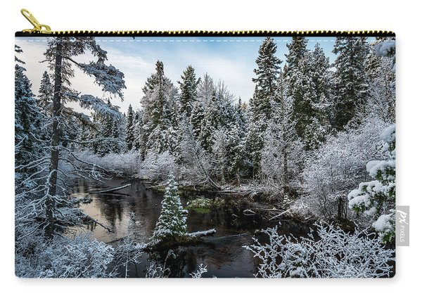 First Snow On Grand Marais Creek Carry-all Pouch