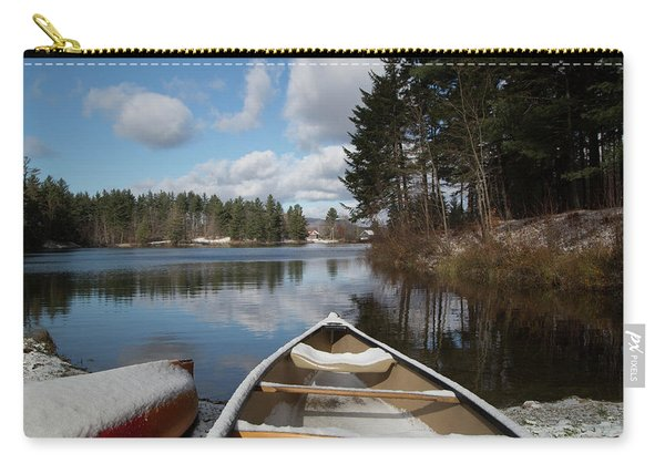 First Snow On Vermont Pond Carry-all Pouch