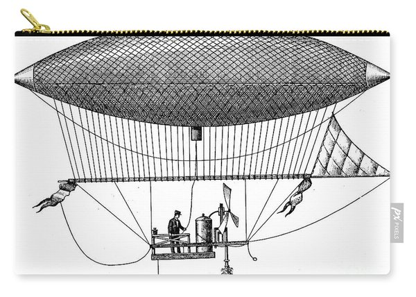 First Steam Powered Airship Designed By Henri Giffard, 1922 Carry-all Pouch