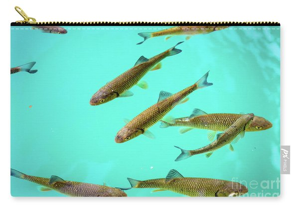 Fish School In Turquoise Lake - Plitvice Lakes National Park, Croatia Carry-all Pouch