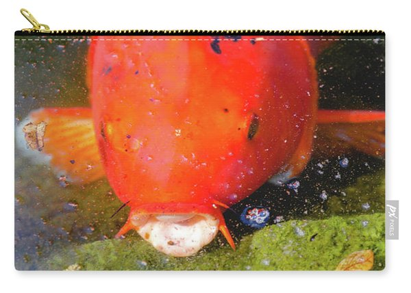 Carry-all Pouch featuring the photograph Fish Surprise by Raphael Lopez