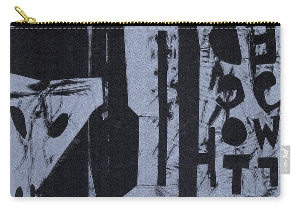 Fisher Covers Reverse White On Black Carry-all Pouch