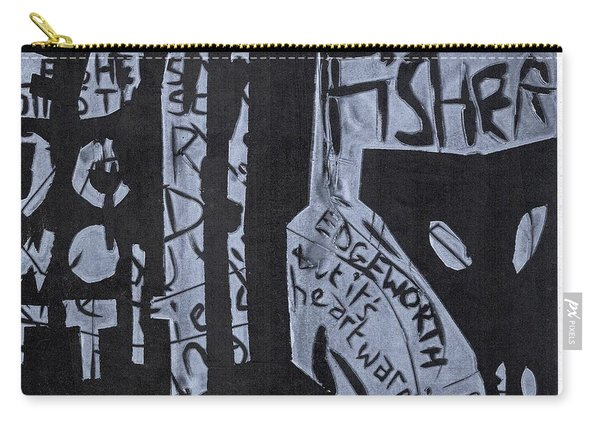 Fisher Covers White On Black Carry-all Pouch