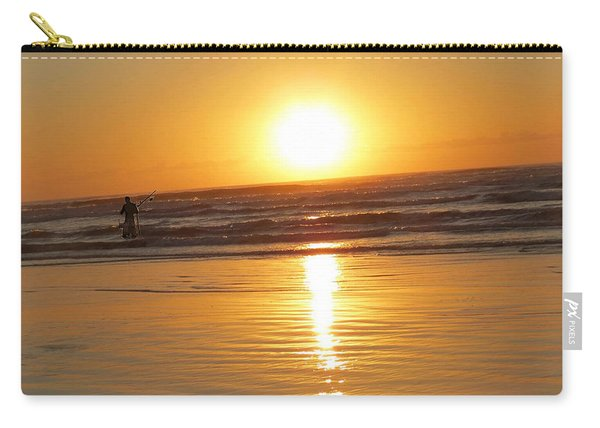 Fisherman At Sunrise Carry-all Pouch
