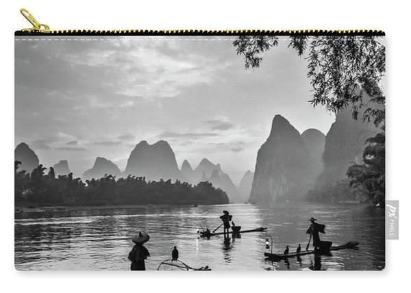 Fishermen At Dawn. Carry-all Pouch