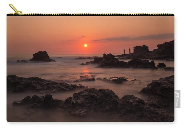 Fishermen At Sunset Carry-all Pouch