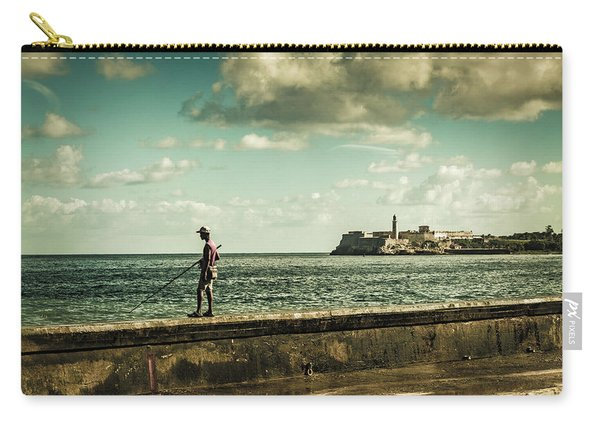 Fishing Along The Malecon Carry-all Pouch