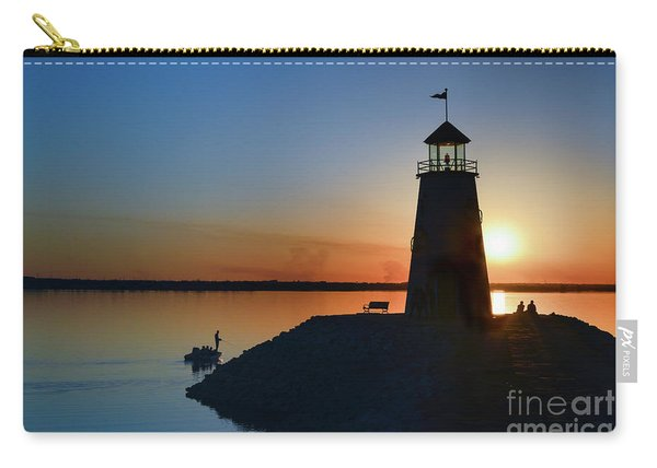 Fishing At The Lighthouse Carry-all Pouch
