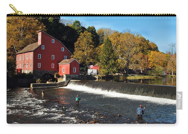 Fishing At The Old Mill Carry-all Pouch