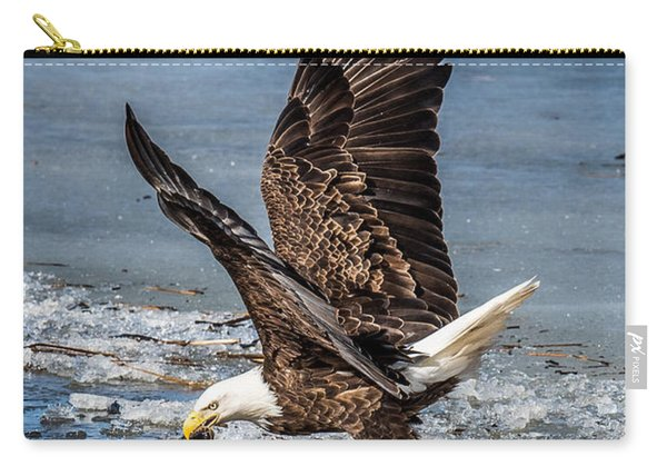 Fishing Bald Eagle Carry-all Pouch