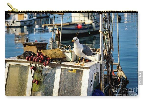 Fishing Boat Captain Seagull - Rovinj, Croatia Carry-all Pouch