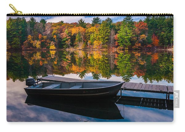 Fishing Boat On Mirror Lake Carry-all Pouch