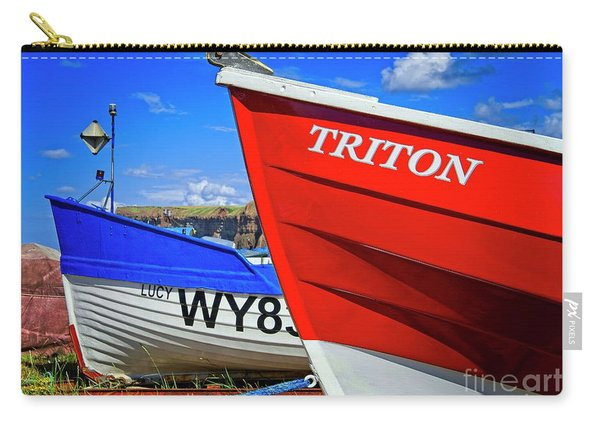 Fishing Boats Saltburn-by-the-sea Carry-all Pouch