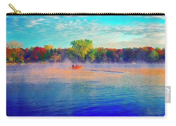 Fishing On Crystal Lake, Il., Sport, Fall Carry-all Pouch