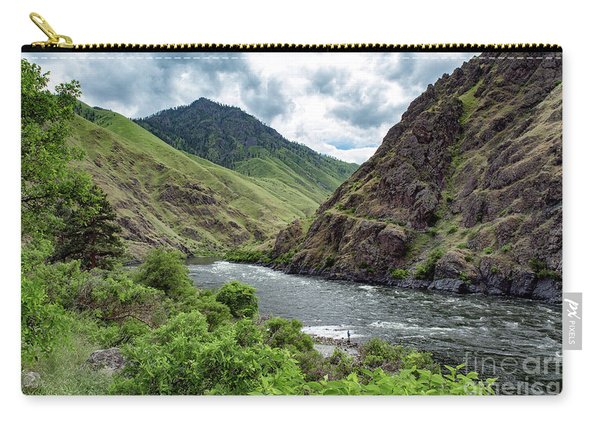 Fishing The Snake Waterscape Art By Kaylyn Franks Carry-all Pouch
